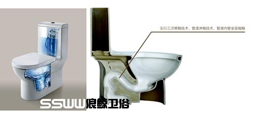节水型马桶剖面图